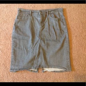 Old navy gray denim pencil skirt